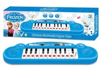 Wholesale new fashion frozen Electronic organ cartoon music Color box packaging Children s electronic organ Size CM