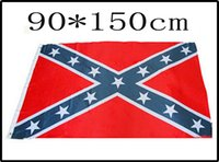Wholesale HOTTEST cm cm two Printed Flag Confederate Rebel Civil War Flag Confederate Battle Flags National Polyester Confederate Flag by the USA