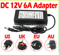 Wholesale DC LED Power Supply Charger Transformer Adapter V A V V to V For RGB LED Strip EU US AU UK Cord Plug Socket