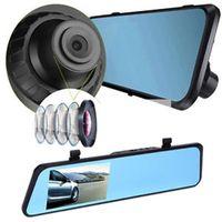 Wholesale HD quot Dual Lens Car Camera Video DVR Dash Cam Rearview Mirror Motion Detection Waterproof View Camera G Sensor