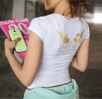 Wholesale New style women s summer Short sleeve T shirt High quality Embroidery T shirt Sexy T shirt