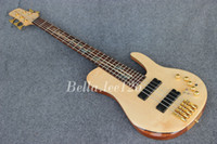 Wholesale OEM guitar factory string butterfly logo electric bass guitar deluxe maple neck through body Ash alder body