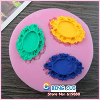silicone molds - Picture Frame Silicone Mold Sugar Craft Molds chocolate soap candle molds for cakes Tools Q152