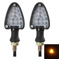 motorcycle led indicator light - 1 Pair of LED Turn Signal Indicator Blinker Light Universal Motorcycle Bike Amber Light CLT_608