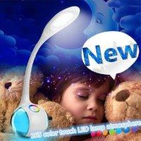 2015 Nueva LED táctil interruptor ON / OFF Lámpara de escritorio Niños Protección de los ojos del estudiante Lectura Estudio Dimmer plegable recargable Led Lámparas de mesa