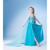 Cheap Drop shipping,New 2015 Frozen Elsa dress Girl Princess Dress Summer frozen long dress Elsa Costume,baby & kids summer dresses