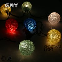 Wholesale GMY EVA Ball String Light V with UL RoHS Christmas American standard clear for hoilday pack