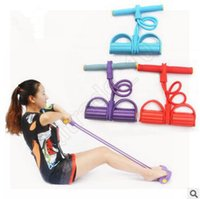 Wholesale 1000pcs CCA3572 High Quality Colors Foot Hand Portable Pedal Exerciser Body Building Resistance Band TPR Tube Pull Exerciser With Pedal