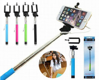 Wholesale Z07 s Extendable Handheld Wired Selfie Stick with groove Telescopic plus Monopod Self timer for iPhone s plus Android Samsung s6 s5 s4