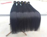 Wholesale 18 quot quot quot quot Italian Keratin Fusion U Tip Nail Tip Hair Extensions Human brazilian virgin hair straight strands pack g