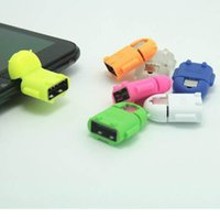 Cheap Wholesale-1pcs Micro usb to USB OTG ROBOT adapter for portable smartphone tablet pc connect to U flash mouse keyboard Phone Accessories