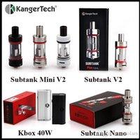 kanger - Authentic Kangertech Kbox W Box Mod Black White Subtank Mini V2 Subtank Nano Subtank Plus Sub Ohm Tank Atomizer