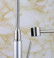 bar sink faucets brushed nickel - Brushed Nickel Bar Kitchen Sink Pull out Spray Faucet M10