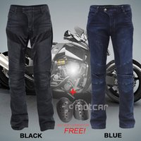 Wholesale Black Blue Men s Waterproof Motorcycle Pants Armor Jeans Motocross KTM Racing Pants Motorcycle Trousers Knee Protective HP