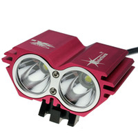 used bicycles - New LED Outdoor lamp spotlight Red CREE XML xU2 LED Lumens Owl Dual use Bicycle bike HeadLight Lamp Light