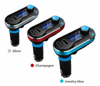 aston martin factory - Hot selling Bluetooth handsfree Car FM Transmitter Wireless MP3 Player mm audio socket LCD display Factory