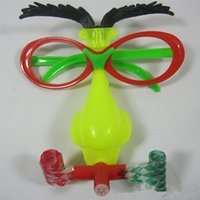 Wholesale red big glasses yellow nose blowing dragon strange facesWholesale red big glasses yellow nose blowing dragon strange faces