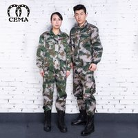 camouflage clothing - New pupils and students rode military service outdoor sports clothes digital camouflage suit cheap