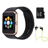 Wholesale multilingual Smart Watch GT08 Clock Sync Notifier Support Sim Card Bluetooth for Apple iphone Android Phone Smartwatch Watch