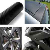 Wholesale 152x60cm D Black Carbon Fiber Vinyl Wrap Film Car Vehicle Sticker Sheet Roll