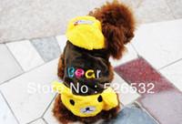 Оптовая Медведь Четыре ноги одежда собаку одежды плюшевых VIP собака одежда, бесплатная доставка