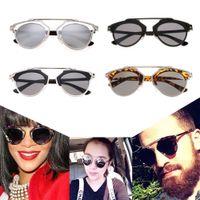 Wholesale Hot Fashion Vintage Cat Eye Mirror Glasses Outdoor Casual Retro Sunglasses New