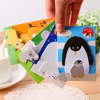 Wholesale 2015 cute post it sticky notes notebook stickers kawaii paper mini notepad animal shape stationery for kids children students adult