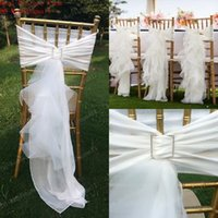 wedding chair sashes - 2015 Chair Sash for Weddings Tulle Delicate Wedding Decorations Chair Covers Chair Sashes Wedding Accessories