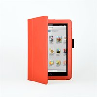 Cheap Litchi Style PU Leather Slim Smart Cover Stand Case For Barnes Noble Nook HD 9 Tablet + Screen Touch Pen As Gift Free Ship