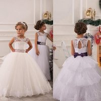 Reference Images beauty net - Vintage Beauty Pageants Gowns Jewel Sash Lace Net Baby Girl Birthday Party Christmas Flower Girl Princess Dresses Children Party Dresses