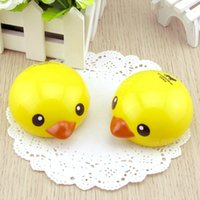 Wholesale new cute cartoon Small yellow duck designs contact lenses box case lens Companion box