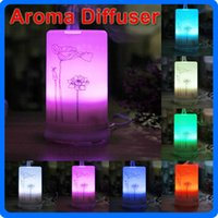 Wholesale 100ML Ultrasonic Aroma Diffuser Pure Lotus Style Pattern Air Humidifier With Timer Settings and Color Changes