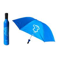 Wholesale Creative Fashion Bottle Umbrella Folding Wine Bottle Sun rain Umbrella Portable Foding Umbrella