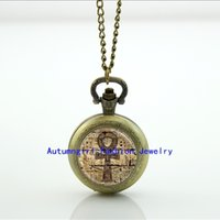 ankh symbol - Egyptian Ankh Pocket Watch Eternal Life Symbol Jewelry Locket necklace Antique Pocket Watch Necklace WT