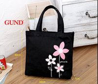 Wholesale Thick cotton canvas shoulder bag hand bag cross tutoring students book bags duffel bags shopping bags