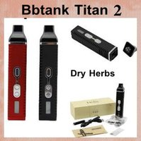 Wholesale Bbtank Titan Kit Dry Herb Vaporizer Electronic Cigarette Burn Dry Herbs Vaporizer Pen With mAh Battery Lcd Display ATB070