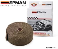 Wholesale Tansky PERFORMANCE THERMAL HEAT MANIFOLD EXHAUST SYSTEM WRAP BROWN quot wide x meter long EP WR15TI