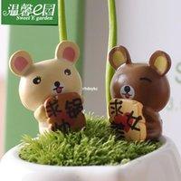 bear beauty - mini microlandschaft cute craft E cozy garden moss micro landscape ornaments request seeking handsome pot beauty Bear Bear d