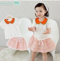 Cheap baby clothing set Watermelon collar t-shirt +stirpe skirt summer skirt clothes girls sets babies clothes toddler 2pcs set girl outfit 5825
