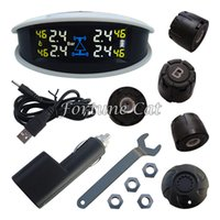 Wholesale Unique SPY Car TPMS With Colorful LCD Screen External Sensors White Color Monitor Grey Color Monitor Selectable