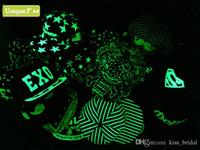 Wholesale 23 style Popular luminous flat hat hip hop fluorescence cap baseball cap Snapbacks Snapback Baseball Hats Caps for men women Fluorescence