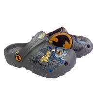 garden clogs shoes - Retail Baby Boys Batman Slippers Kids Cartoon Garden Shoes Children Ben10 Flip Flops Sandals EVA Clog Shoes