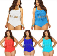 wholesale sexy clothing - 12 Color Plus Size Brand Sexy Women Bikini Sets Tankinis Swimwear Women s Strapless Tassels Tops Panties PC Beach Ladies Clothing K3928
