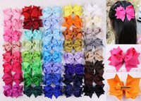Wholesale 2015 NEW quot Handmade jewelry boutique baby Girl Grosgrain Ribbon Hair Bows Clip color choose Baby Girls Hair Accessories