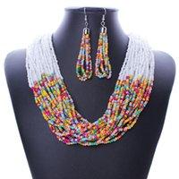 agate dark crystal - Hot Sale Fashion Women Bohemia Multi layers fashion beads korea imitation jewellery bead necklace design set