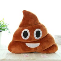 Wholesale Mini Cute Emoji Emoticon Cushion Poo Shape Pillow Doll Toy Throw Pillow