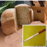 Wholesale New Stainless Steel Inch Bread Knife Cutter Blade With Wooden Handle Kitchen Gadgets Good Quality