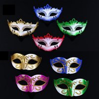 Wholesale 2015 New Hot Party masks Venetian masquerade Mask Halloween Mask Sexy Carnival Dance Mask cosplay fancy wedding gift mix color DHL Free