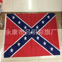 Wholesale 2015 Fashion New Design Confederate Battle Flags Two Sides Printed Consfederate Flag National Polyester Flags Printed Printing Flag Hot