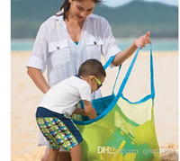 beach towel in bag - 2015 Lowest price Extra large sand away beach mesh bag Children Beach Toys Clothes Towel Bags baby toy collection bag IN stock p